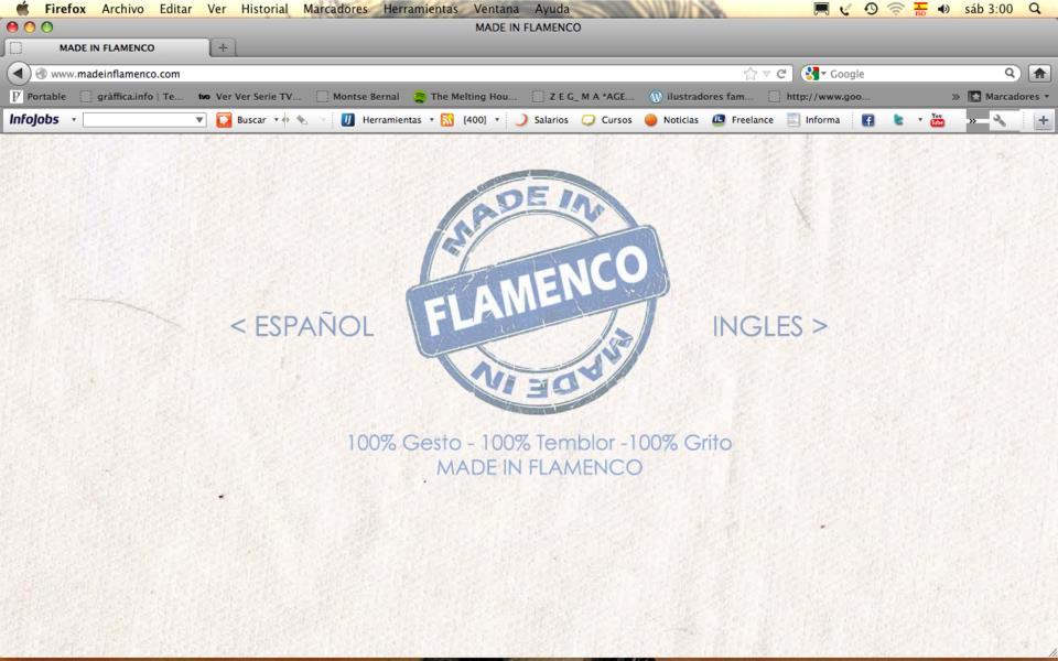 Portada web Made In Flamenco