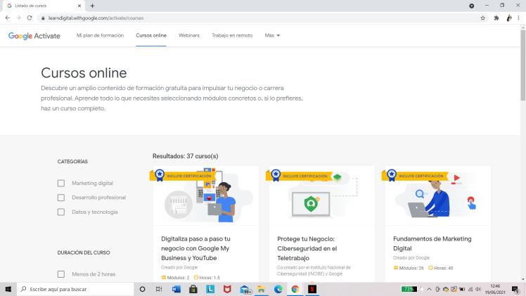 Google Actívate: Cursos Online