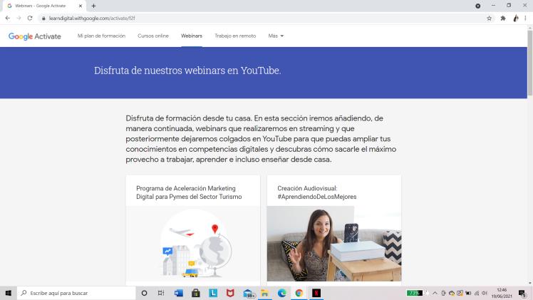 Google Actívate: Webinars
