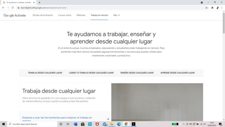 Google Actívate: Trabajo en remoto