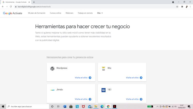Google Actívate: Herramientas para tu negocio