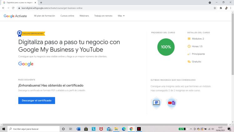 Google Actívate: Certificado