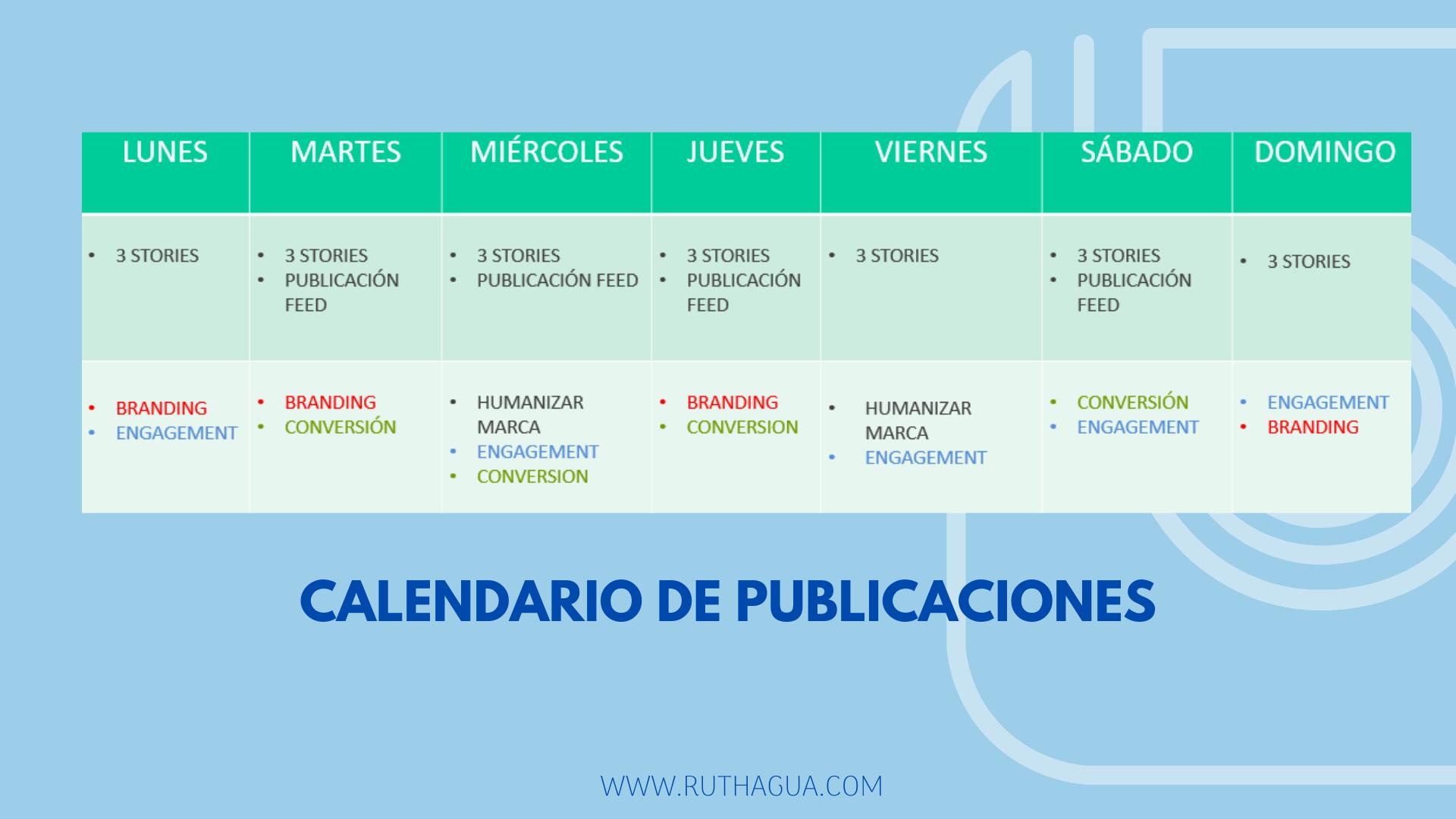 5 PASOS PARA MEJORAR TU PERFIL DE INSTAGRAM: CALENDARIO DE PUBLICACIONES